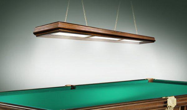 Деревянный светильник для бильярдного стола