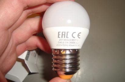 Обозначения на светодиодной лампе