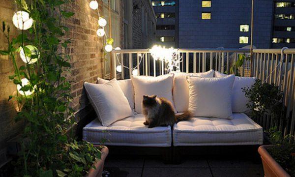 Освещение открытого балкона