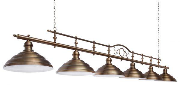 Светильник для бильярда с системой подвески на цепях