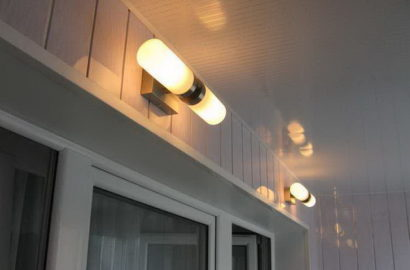 Организация освещения на балконе
