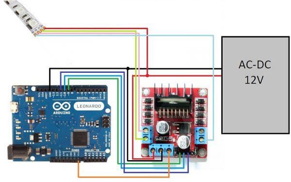 Схема управления для RGB-ленты