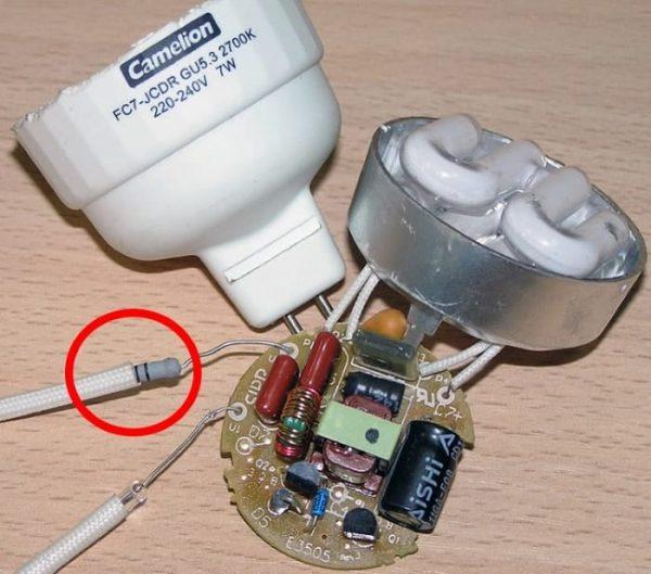 Замена резистора в лампе