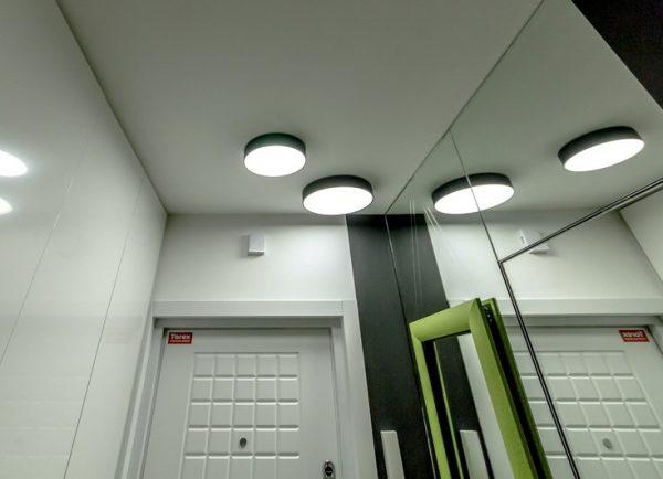 Накладные потолочные лампы круглой формы