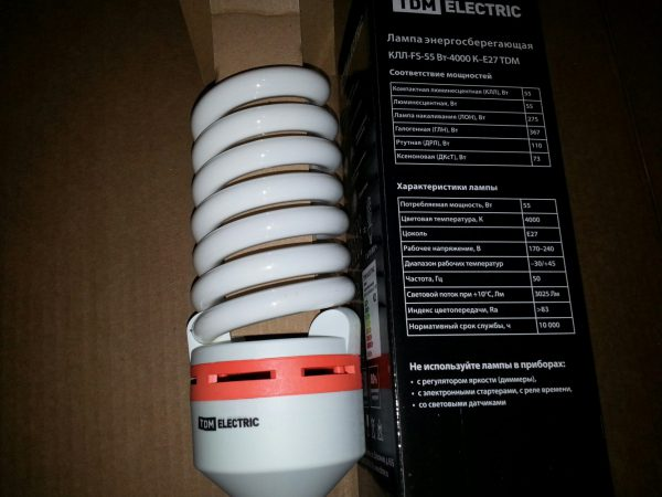 Энергосберегающая лампа с индексом цветопередачи больше 83