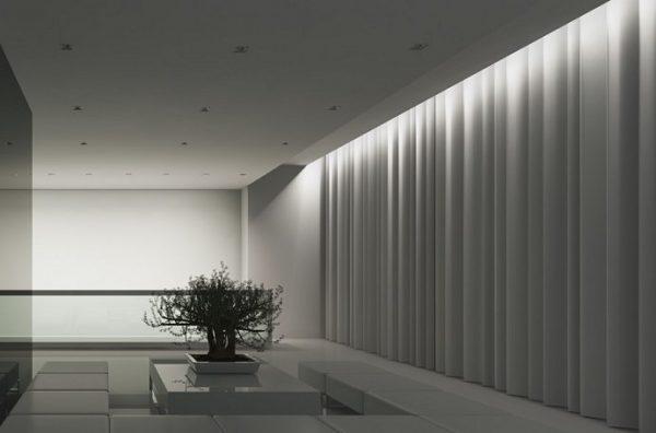 Для освещения штор удобнее всего использовать светодиодную ленту