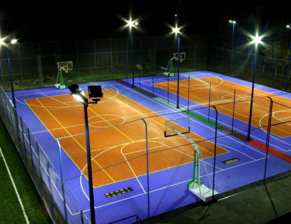 Освещение открытых спортивных площалок