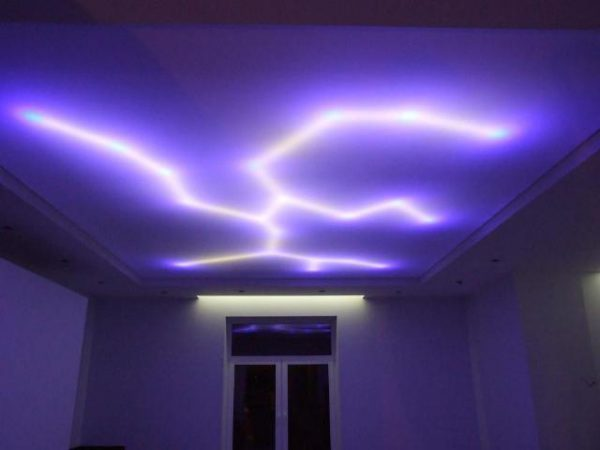 Подстветка натяжного потолка LED-лентой