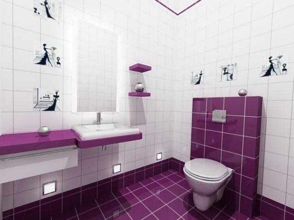 Встраиваемые в стены светильники в туалете