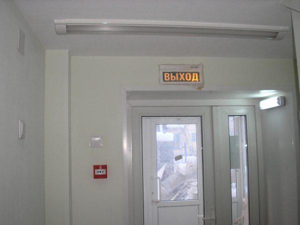 Размещение аварийных светильников