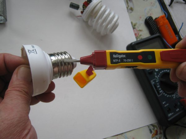 Самостоятельный ремонт энергосберегающей лампы