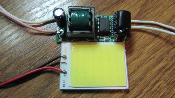 Самодельная LED лампа с драйвером