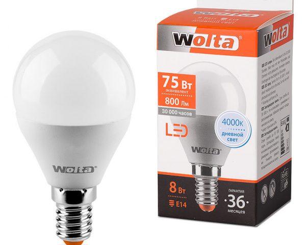 Светодиодная лампа Wolta 800 лм