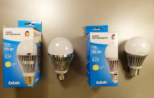 Светодиодные лампы производства BBK
