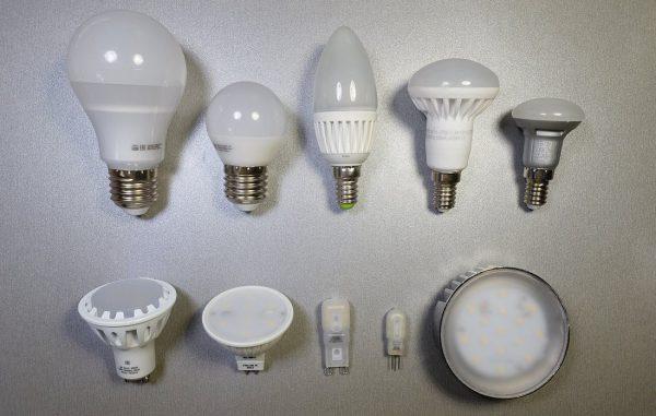 Светодиодные лампочки с различным цоколем