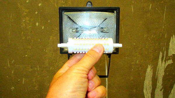 Самодельная светодиодная лампа для галогенного прожектора