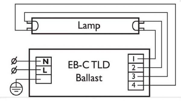 Схема подключения лампы без стартера