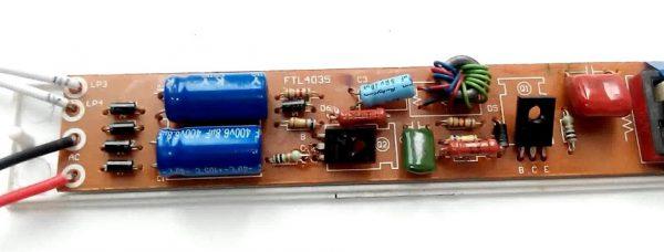Конструкция электронного балласта для люминесцентной лампы