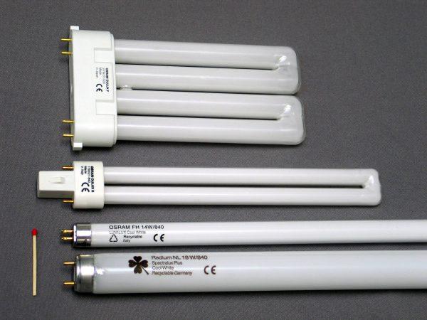 Люминесцентные лампы различной формы