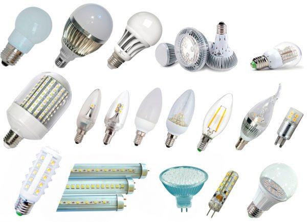 Разновидности светодиодных ламп