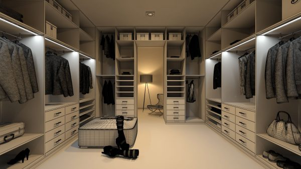 Принципы зонирования гардеробной комнаты