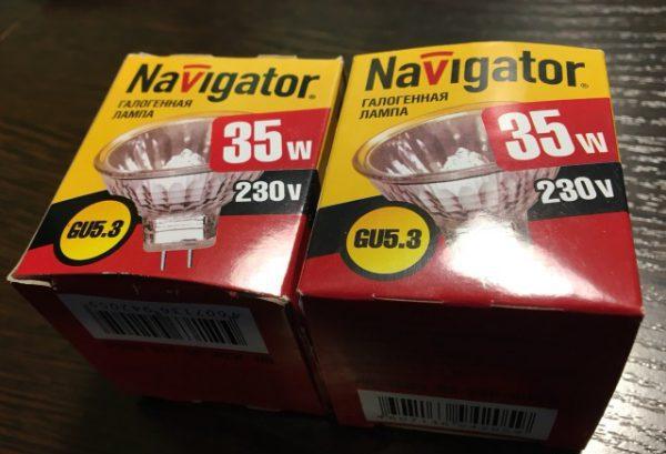 Для натяжных потолков можно использовать галогенные лампы мощностью не более 35 Вт