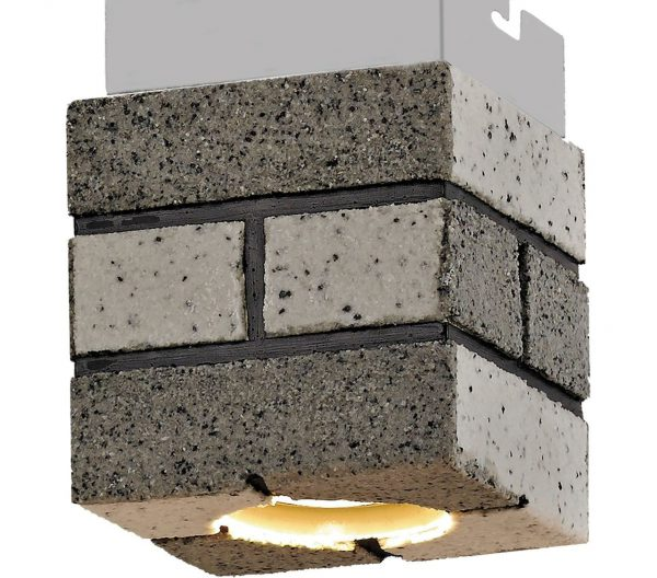 Квадратный светильник в стиле лофт
