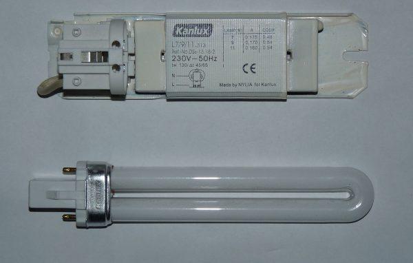 Патрон и дроссель для лампы G23 11W