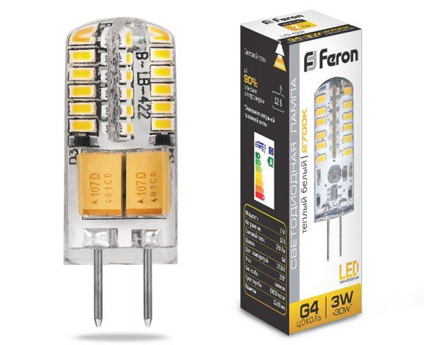 Лампа Feron на 12 вольт мощностью 3 ватта