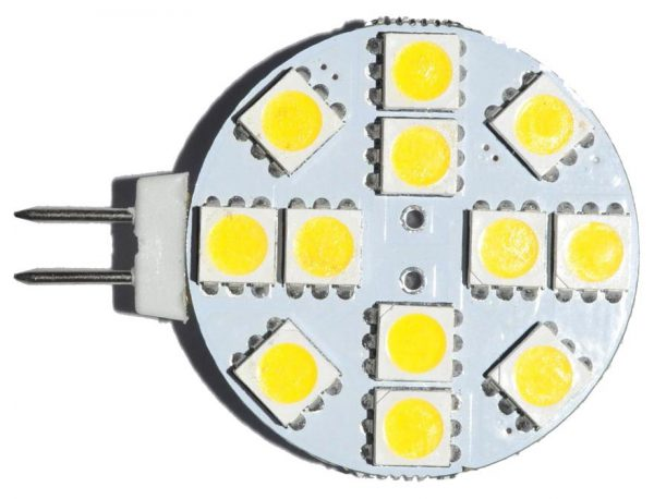 LED-лампа на 12 вольт в форме диска