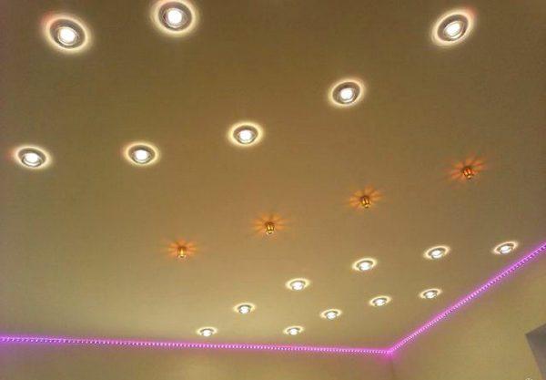 Малогабаритные точечные светильники круглой формы