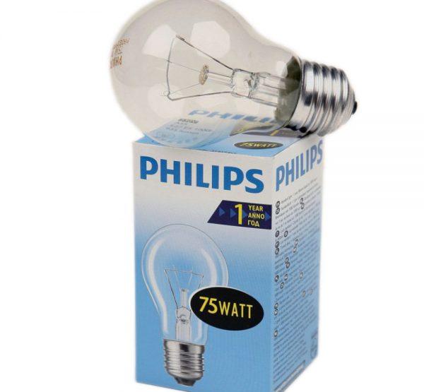 Наибольшая световая отдача у ламп накаливания мощностью 75 Вт