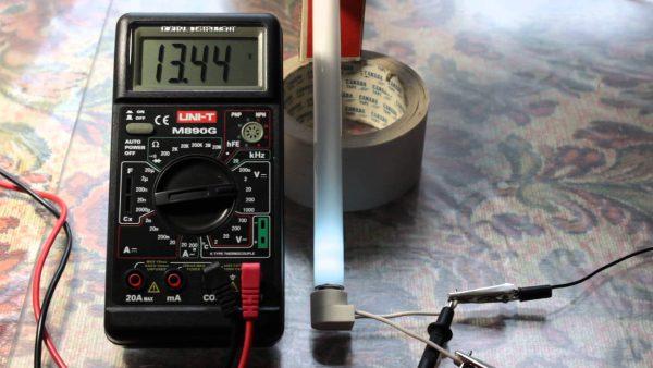 Проверка работоспособности люминесцентной лампы мультиметром
