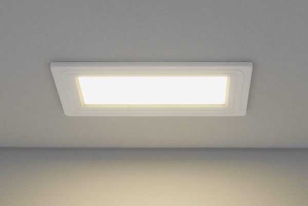 Встраиваемый светильник прямоугольной формы