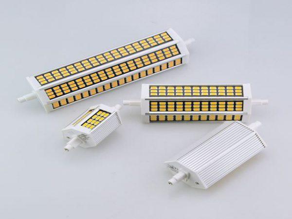LED-лампы R7S выпускаются для источников света с различными размерами между патронами