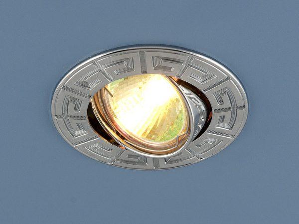 Светильник MR16 CH хром с галогенной лампой