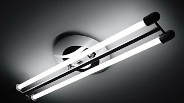 Установка люминесцентных ламп на натяжной потолок