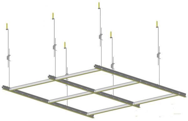 Схема подвесной системы потолка