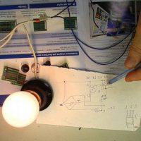 Управление яркостью лампы накаливания