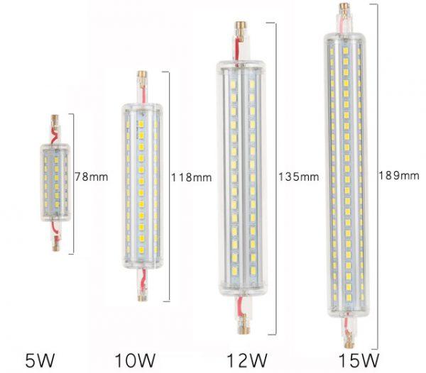 Лампы R7S различной мощности