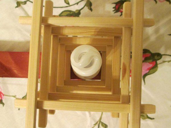 Японская люстра изготовленная своими руками