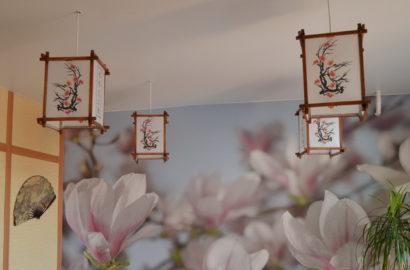 Люстры в японском стиле
