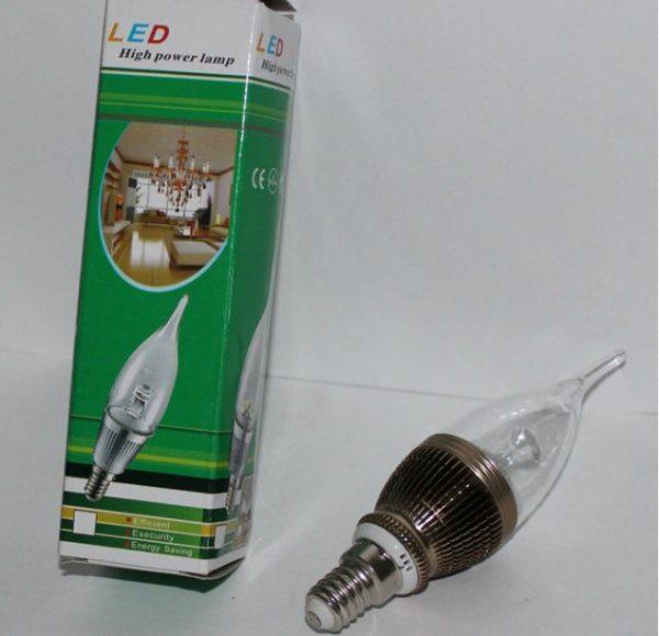 Лампа свеча LED 220В E14