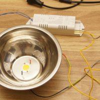 Подключение LED-светильника к 220 в