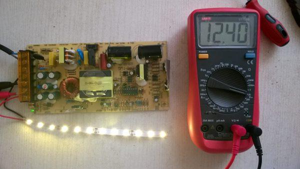 Проверка блока питания LED-ленты