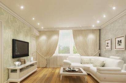 Точечные светильники в комнате