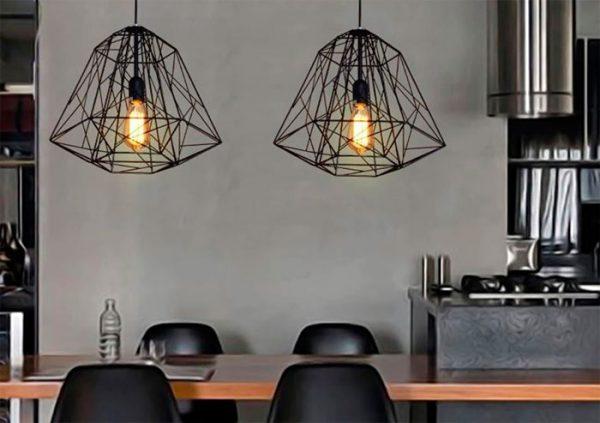 Самодельные светильники в стиле хай-тек