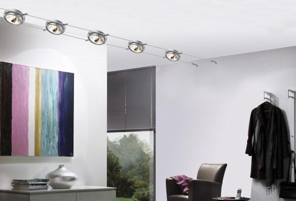 Системы освещения на тросах позволяют эффективно осветить помещение