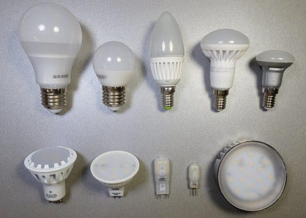 Виды светодиодных ламп для люстры