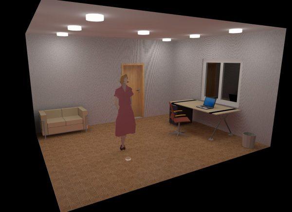 Проведение расчета размещения светильников для помещения